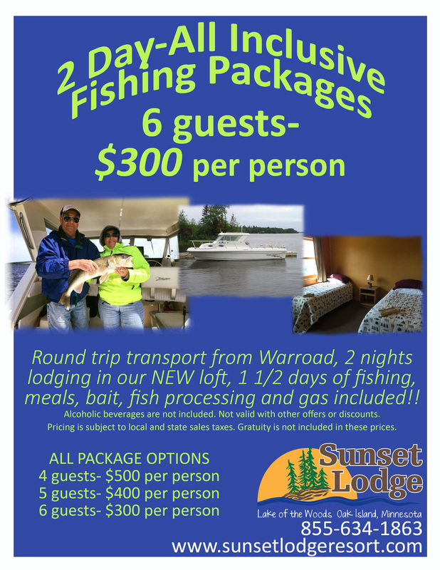 2 day all inclusive fishing packages lake of the woods